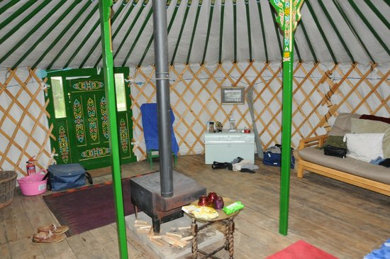Cae Wennol Yurts: Views of our room