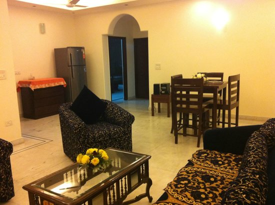 Drawing Cum Dining Room 2 Bhk Apartment Picture Of P K Residences Serviced Apartments Noida Tripadvisor