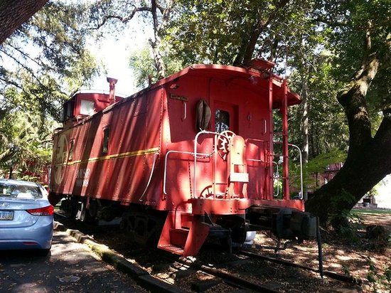 "Featherbed Railroad Bed & Breakfast Resort: Old Santa Fe caboose -- ""Wild, Wild West"""