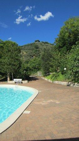 Villa Silvana: piscina con scorcio collina