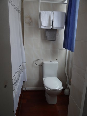 Hotel de la Cathedrale: Toilet and shower. Sink and bidet were in separate room.