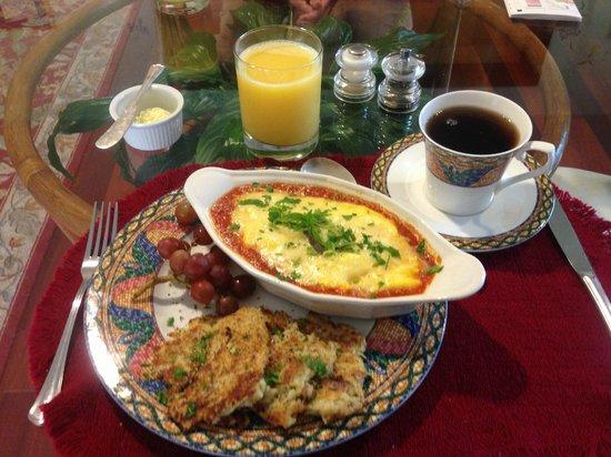 Howard House Lodge B&B: Sicilian omelet at breakfast
