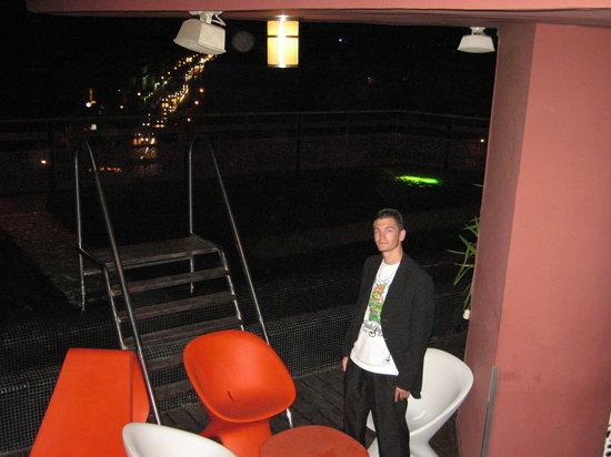 Hotel La Renaissance : My son at the sky bar