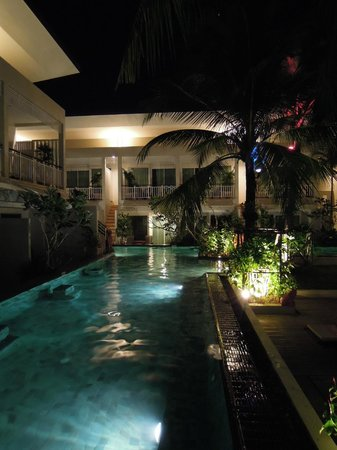 A2 Resort: The pool winds around most of the rooms. You can jump in the pool from the porch of most rooms.