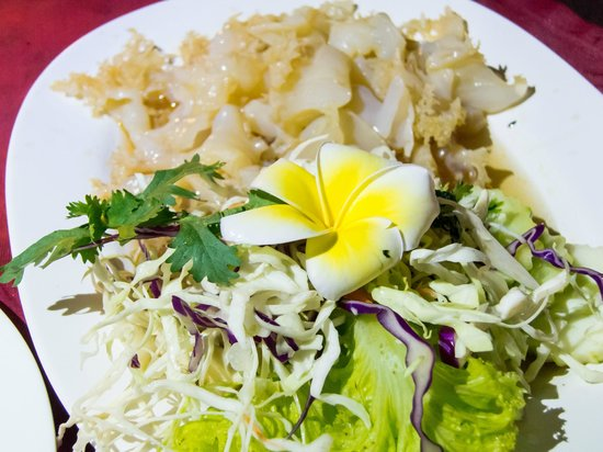 Leelawadee Restaurant Chiangrai: Jellyfish and the Lelawadee flower