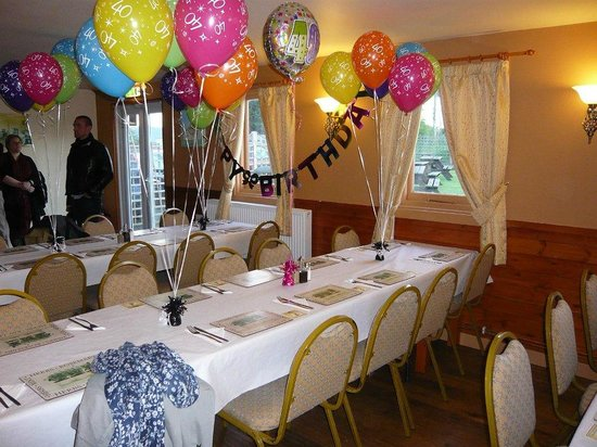 Private function room decorated for a birthday party Picture of
