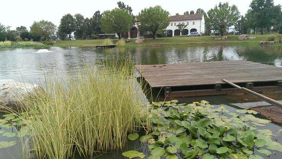 La Risarona: Le plan d'eau