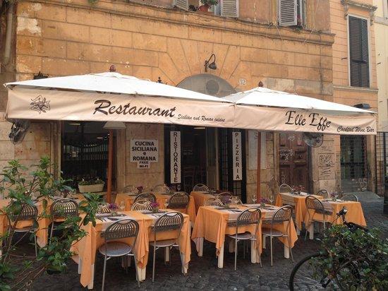 Elle effe restaurant rome navona pantheon campo de for Ristorante elle roma