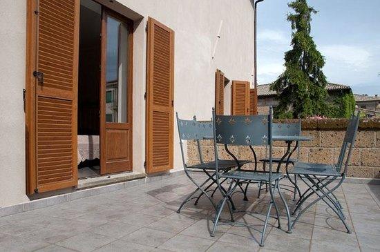 B&B La Piazzetta Orvieto: Terrazzo camera il Girasole