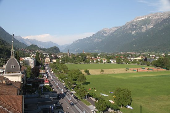 Metropole Hotel Interlaken : South East view from Room 106 balcony