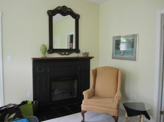 Rosseau's Northern Landing Bed and Breakfast: Fire place in 'Danby Room