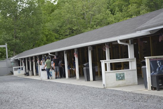 Sunset Hill Shooting Range: The line of Pods to shot from