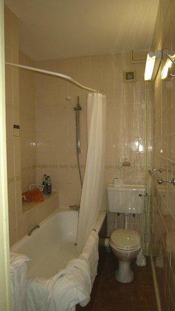 River Hotel: Compact bathroom