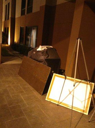 Hampton Inn Springfield: Outdoor entrance to the lobby