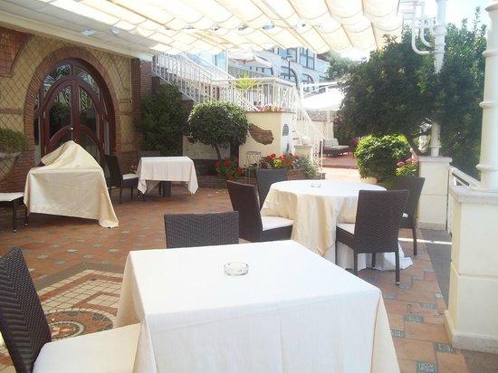 Il Gabbiano Hotel: sala in terrazzo