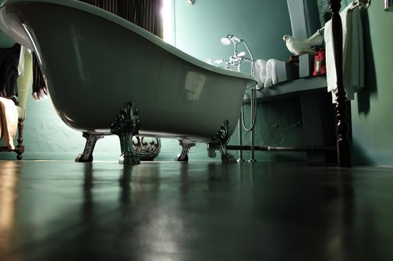 Maison d'hotes Stella Cadente : La baignoire aux pieds du chat botté