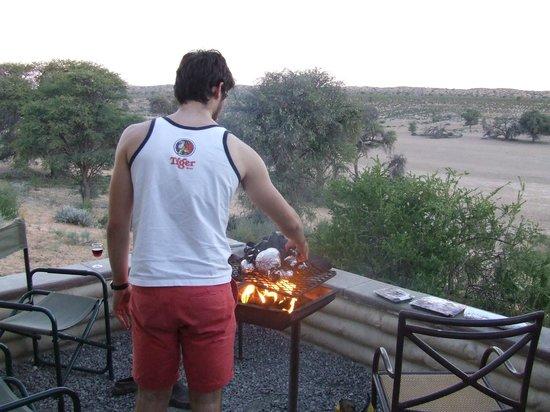 Kalahari Tented Camp: View from the braai/stoep area