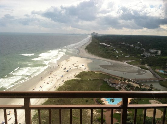 North Beach Plantation: Oceanview from bedroom balcony of Penthouse 1.