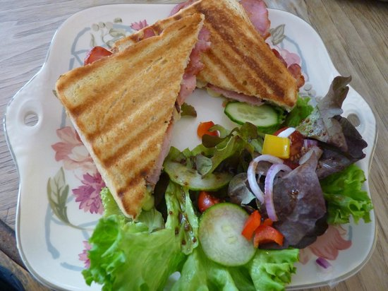 Steyning Tea Rooms: Toasted bacon and brie sandwich