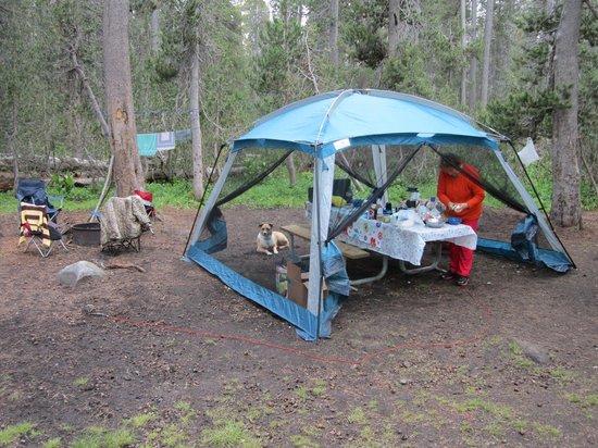 White Wolf Campground : Campsite Kitchen