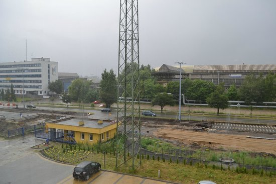 Hotel Arena Expo: The view from our room, not very nice one but who spends the day looking out of the window anywa