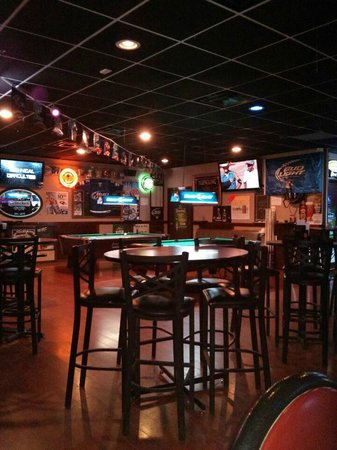 Wings Sports Bar: Bar right when they opened. Obviously dead but they filled up fast.