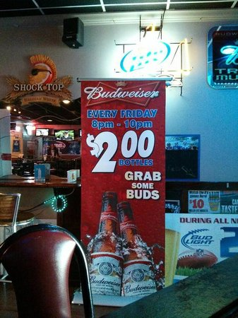 Wings Sports Bar: Took a picture of some specials