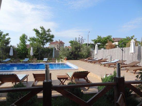 Kapri Hotel: Вид на бассейн