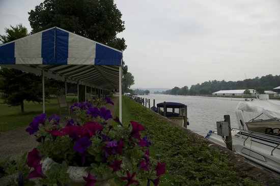 Phyllis Court Club: The Henley Regatta Course from Phyllis Court