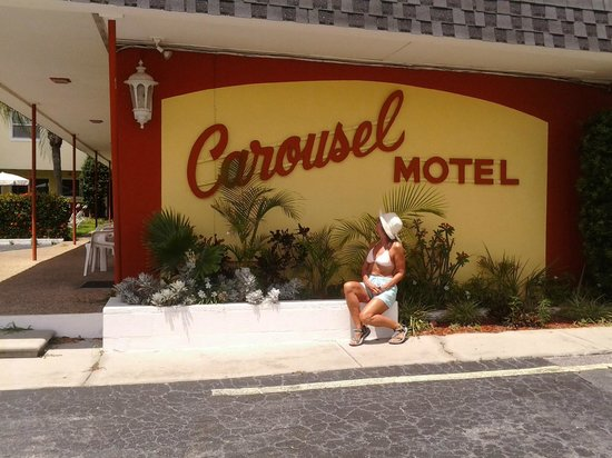 Carousel Motel: One of the signs