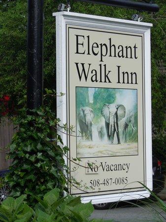 The Elephant Walk Inn: Sign for Inn