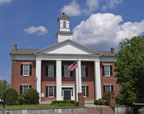Columbus, NC: The Polk County Courthouse is listed on the National Historic Register. It is a majestic, brick