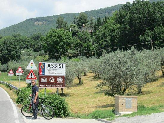 Terra Dei Santi Country House: arrivo a assisi in bici