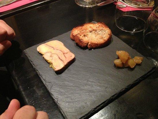LE MORGANE : Entrée : foie gras, chutney de poires.