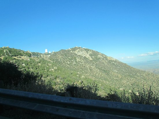 Kitt Peak National Observatory: At a distance, going up the mountain