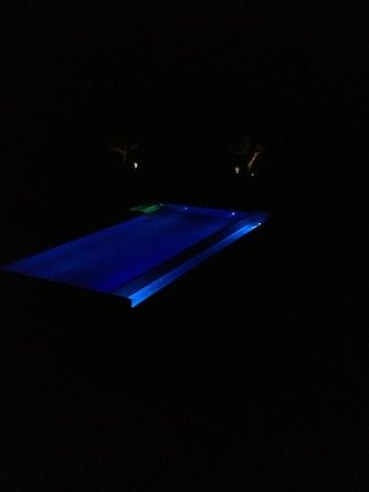 Tenuta di Murlo: Night-time view of the pool - again picture doesn't do justice to the lovely night lighting.