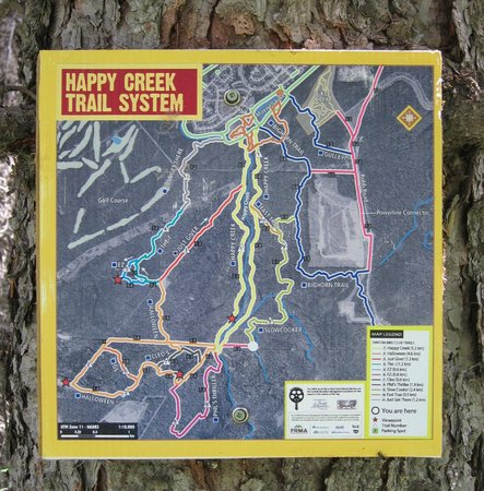 Hinton Bike Park: Trail Maps, found at most trail junctions