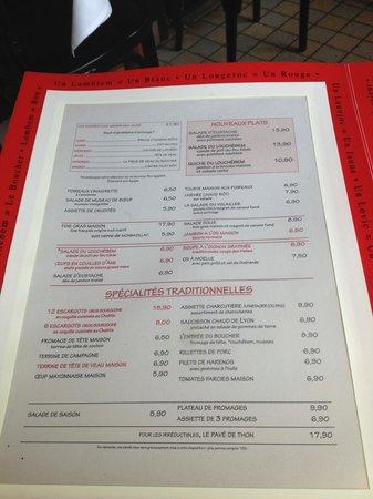 Carte. - Picture of Le Louchebem, Paris - Tripadvisor