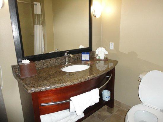 Bathroom picture of best western plus texoma hotel for Best western bathrooms