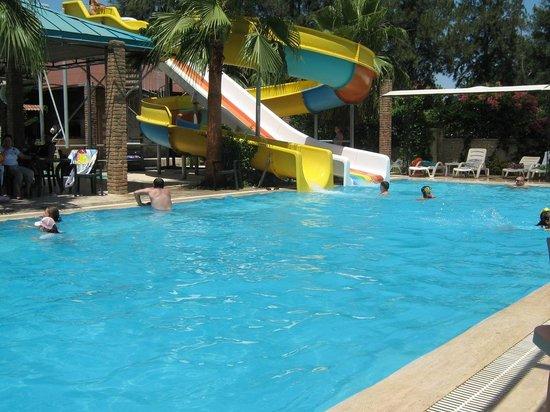 Belkon Club Hotel: Medium sized pool and slides