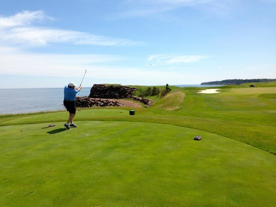 Fox Harb'r Resort: A typical hole along ocean on back nine