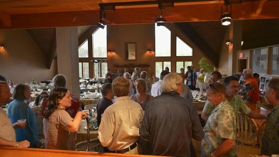Cascade Village: View from inside bar