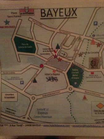 Hotel Le Bayeux : Map of the area.