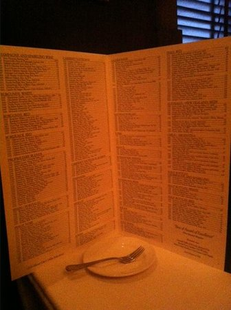 The Capital Grille : Wine list is like a bible. So long:-)