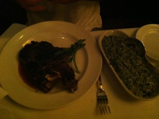 The Capital Grille : Delmonico Steak and side spinach
