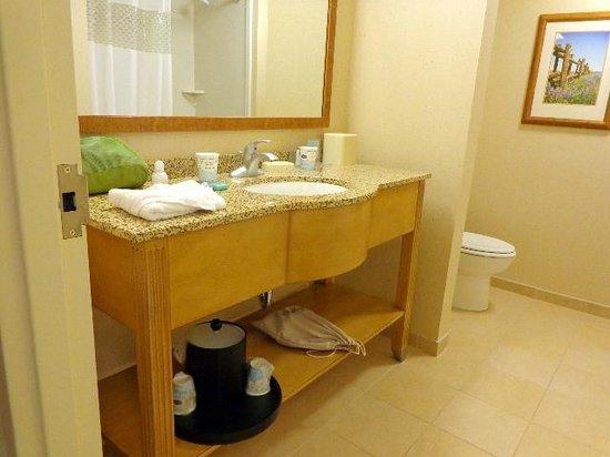 Hampton Inn and Suites Riverton: Well-designed bathroom sink counter