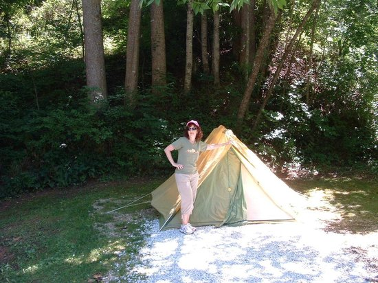 Turkey Creek Campground : Our tent spot, and proof that I actually camped.