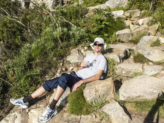 The Cape Town Tour Guide Co.: Clive Resting on Table Mountain