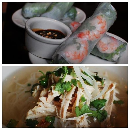 Issei Noodle: #2 Chicken Pho & Fresh Spring Rolls