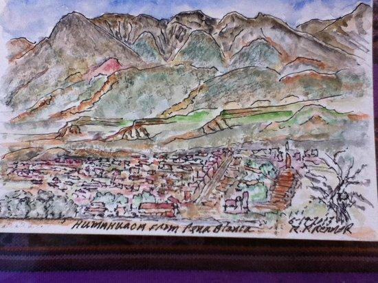 Hostal Humahuaca: My husband's rendition of Humahuaca from Pena Blanca